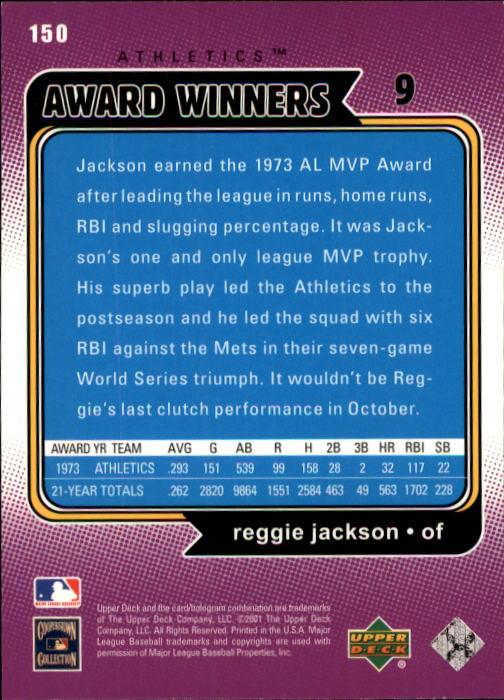 2001 Upper Deck Decade 1970's #150 Reggie Jackson AW back image