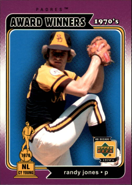 2001 Upper Deck Decade 1970's #160 Randy Jones AW
