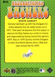 2001 Upper Deck Decade 1970's Bellbottomed Bashers #BB10 Steve Garvey back image