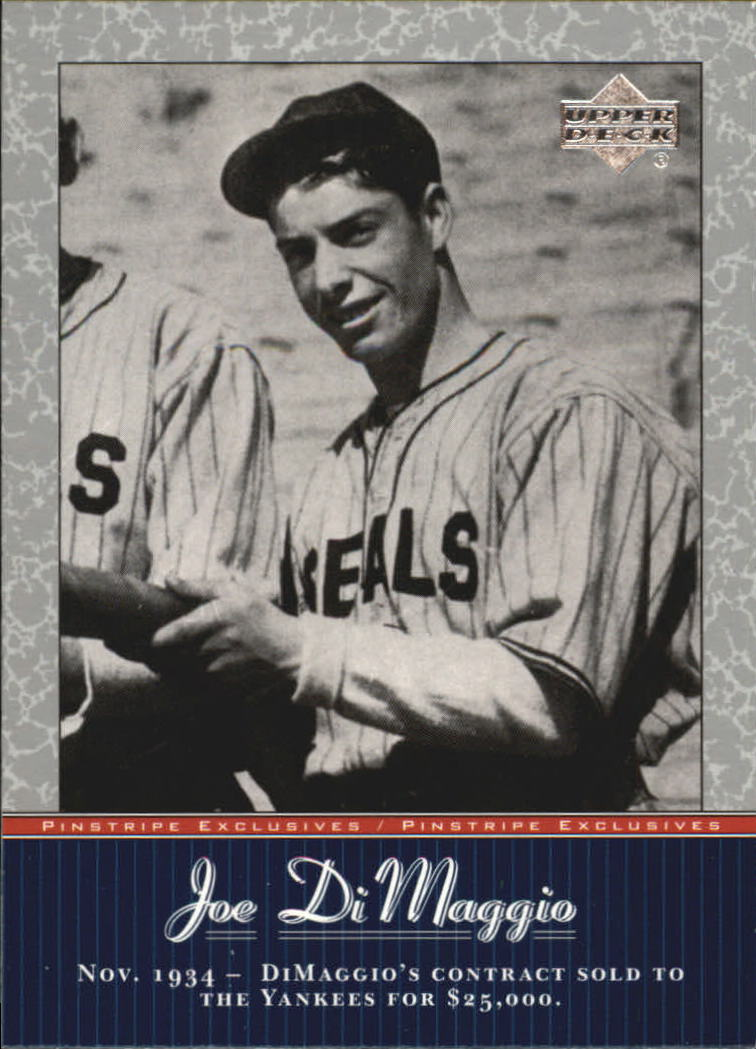 2001 Upper Deck Pinstripe Exclusives DiMaggio #JD4 Joe DiMaggio