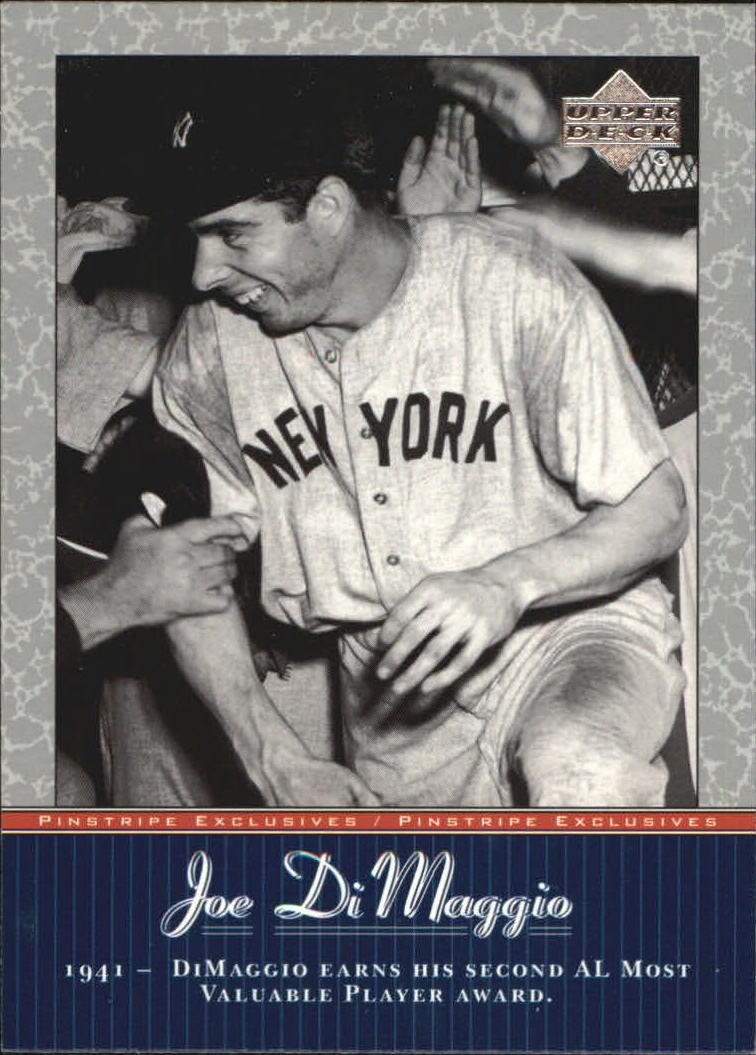 2001 Upper Deck Pinstripe Exclusives DiMaggio #JD24 Joe DiMaggio