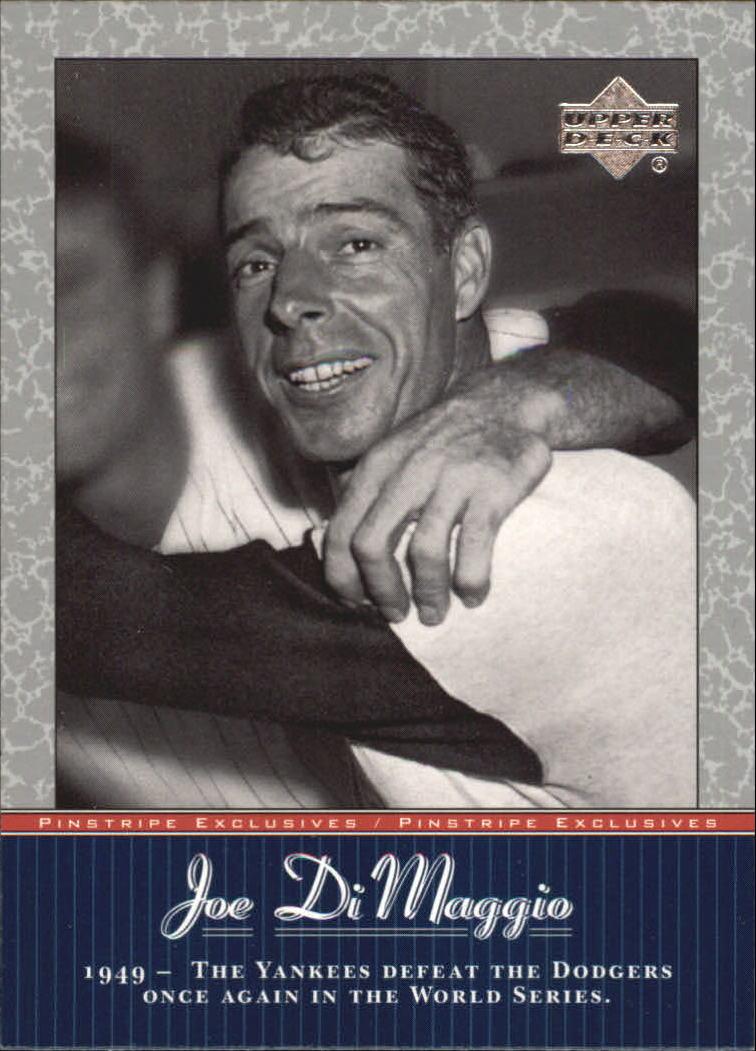 2001 Upper Deck Pinstripe Exclusives DiMaggio #JD39 Joe DiMaggio