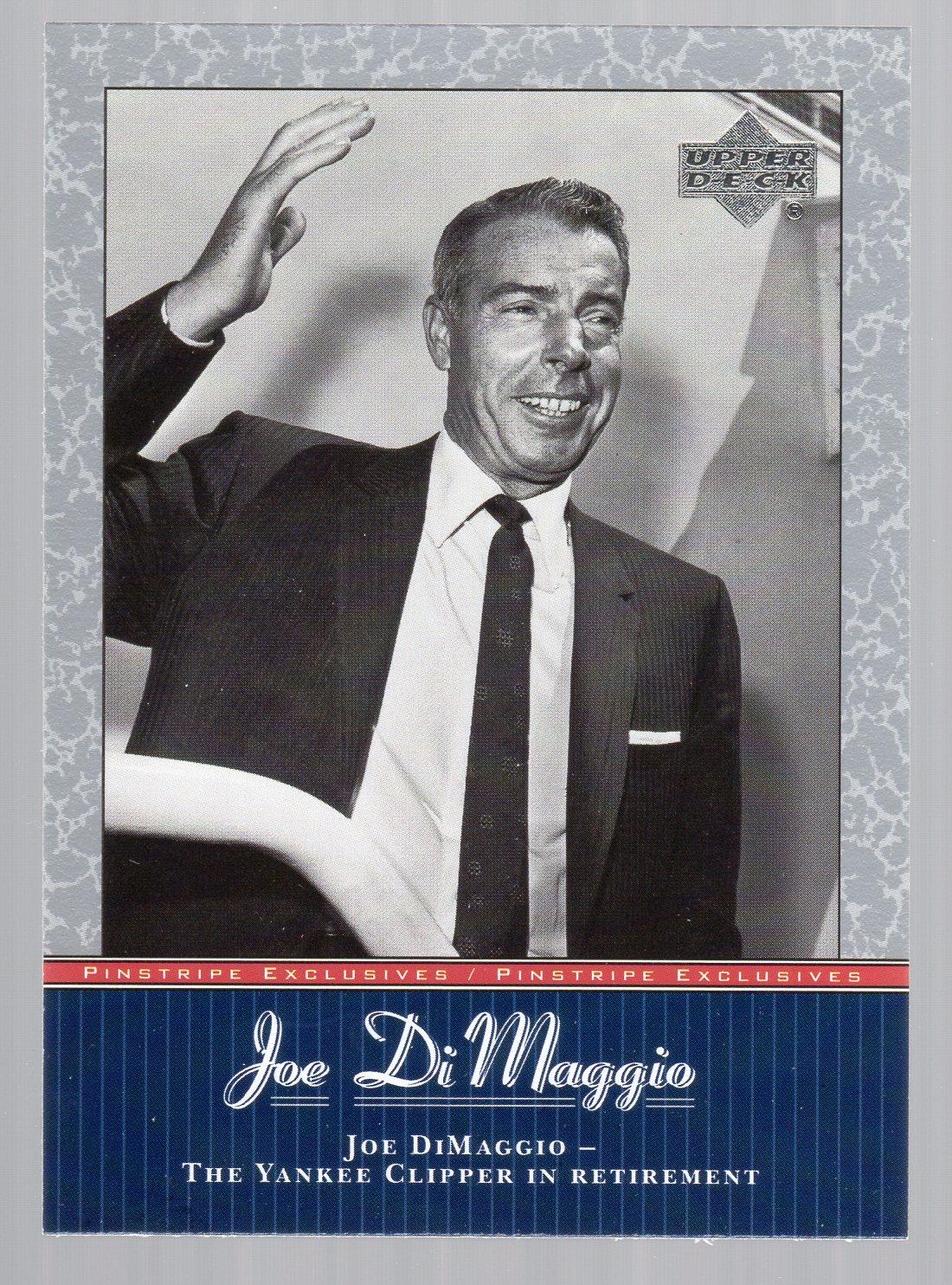 2001 Upper Deck Pinstripe Exclusives DiMaggio #JD44 Joe DiMaggio