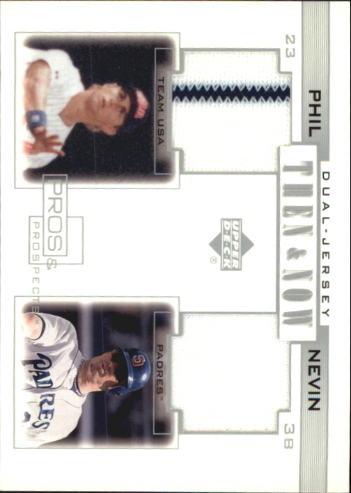 2001 Upper Deck Pros and Prospects Then and Now Game Jersey #TNPN Phil Nevin
