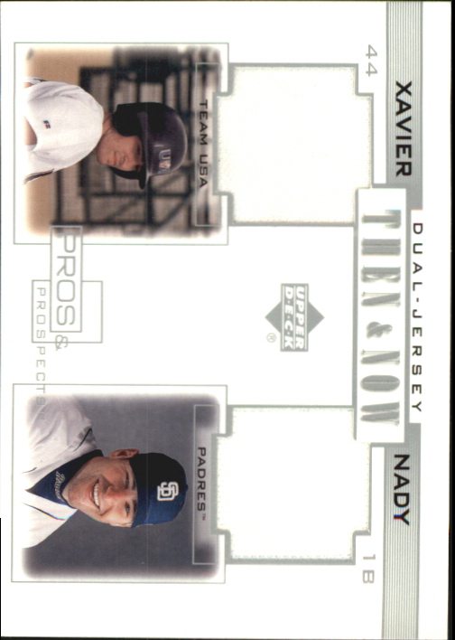 2001 Upper Deck Pros and Prospects Then and Now Game Jersey #TNXN Xavier Nady