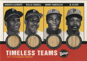 2001 Upper Deck Vintage Timeless Teams Combos #PIT71 1971 Pirates