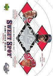 2001 Sweet Spot Game Base Trios #MGE Mark McGwire/Ken Griffey Jr./Jim Edmonds