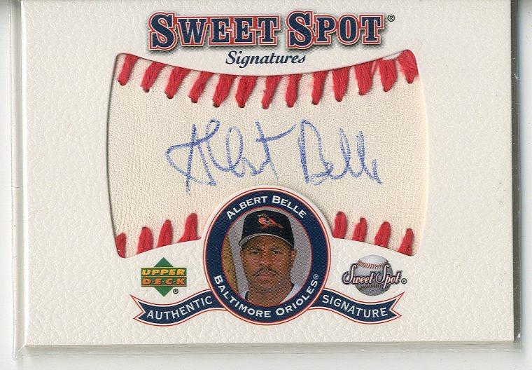 2001 Sweet Spot Signatures #SAB Albert Belle