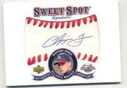 2001 Sweet Spot Signatures #SCJ Chipper Jones