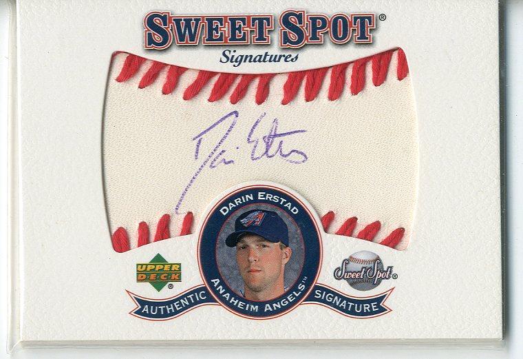 2001 Sweet Spot Signatures #SDE Darin Erstad