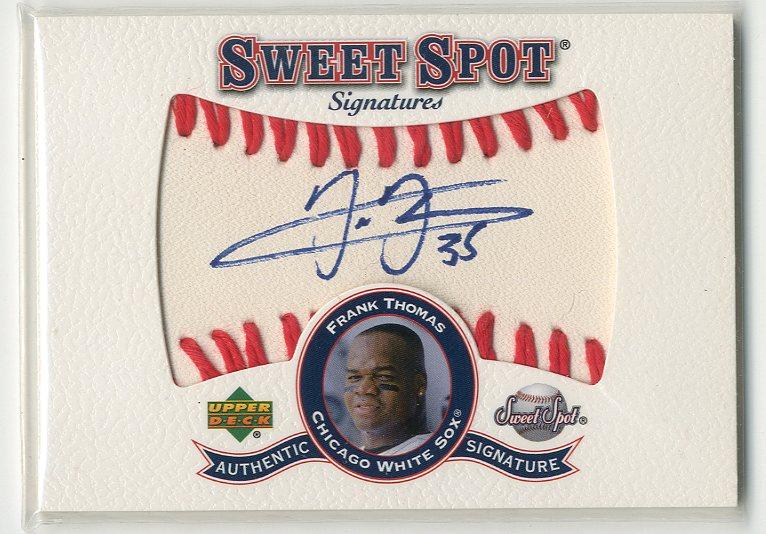 2001 Sweet Spot Signatures #SFT Frank Thomas