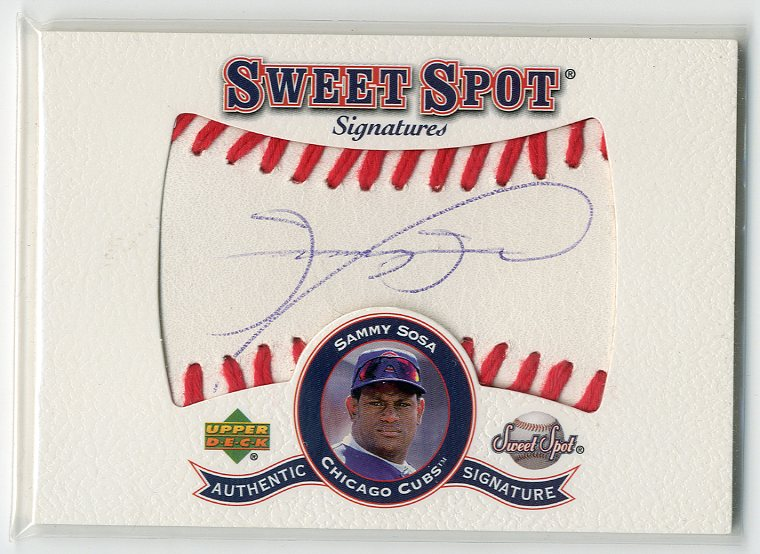 2001 Sweet Spot Signatures #SSS Sammy Sosa SP/148