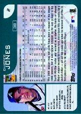 2001 Topps #2 Chipper Jones back image