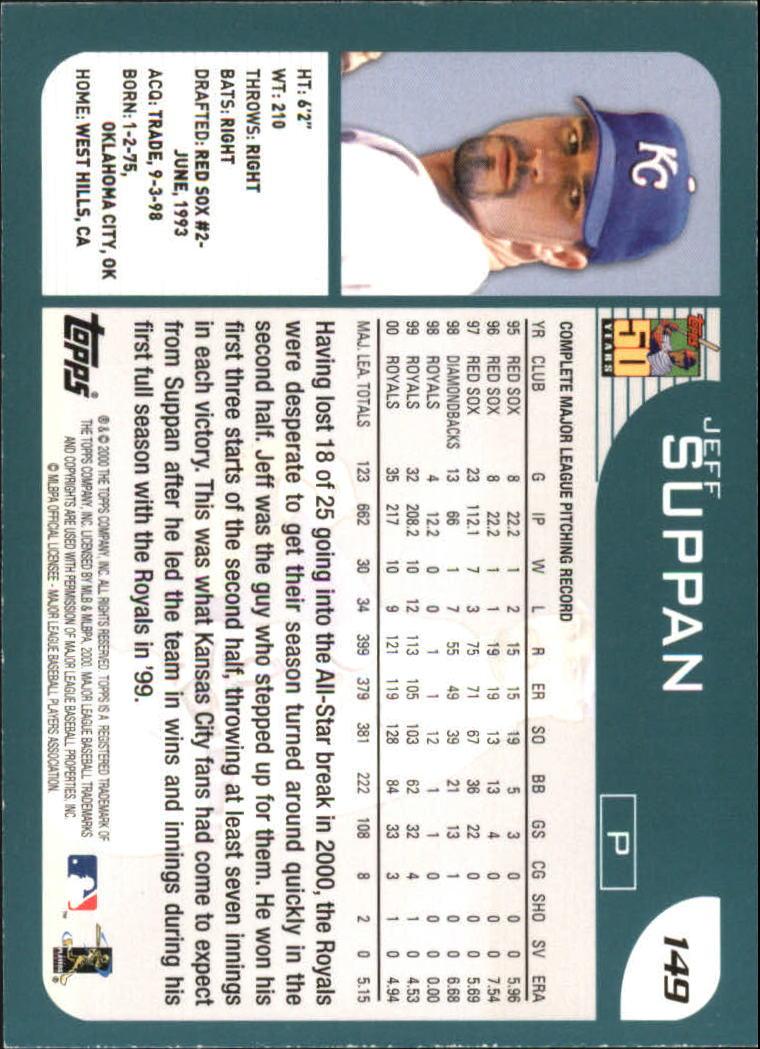 2001 Topps #149 Jeff Suppan back image