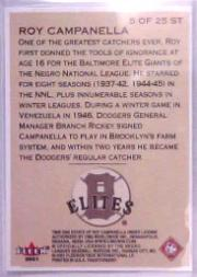 2001 Fleer Tradition Stitches in Time #ST5 Roy Campanella back image