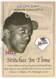 2001 Fleer Tradition Stitches in Time #ST7 Leon Day