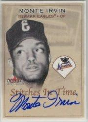 2001 Fleer Tradition Stitches in Time Autographs #3 Monte Irvin