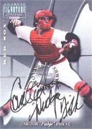 2001 Donruss Signature Notable Nicknames Masters Series #7 Carlton Fisk