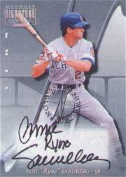 2001 Donruss Signature Notable Nicknames Masters Series #15 Ryne Sandberg