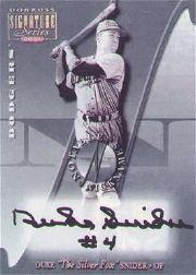 2001 Donruss Signature Notable Nicknames Masters Series #17 Duke Snider