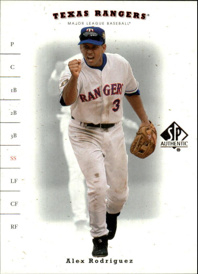 2001 SP Authentic #22 Alex Rodriguez