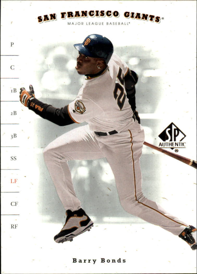 2001 SP Authentic #66 Barry Bonds
