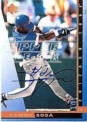 2001 SP Authentic BuyBacks #96 Sammy Sosa 97/14