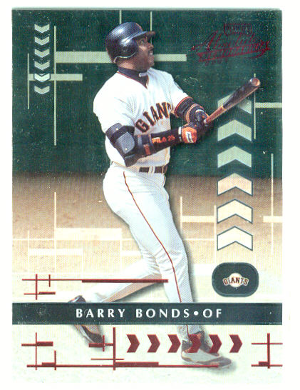 2001 Absolute Memorabilia #2 Barry Bonds