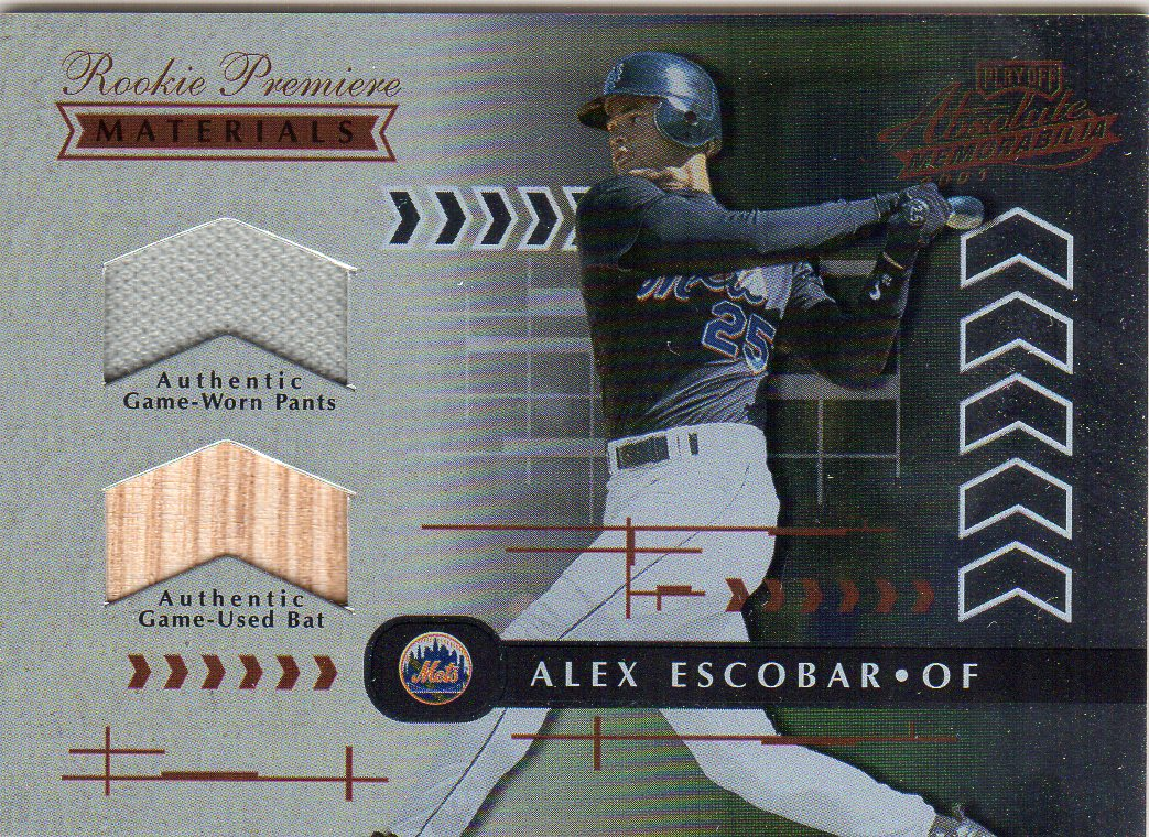 2001 Absolute Memorabilia #160 Alex Escobar RPM