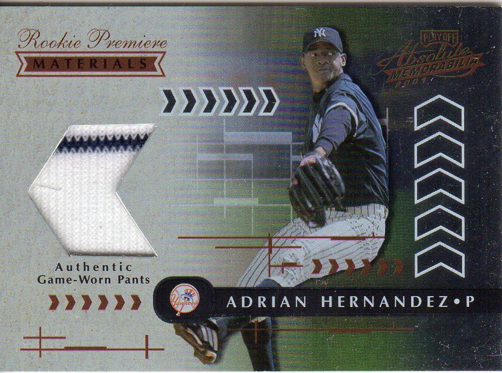 2001 Absolute Memorabilia #173 Adrian Hernandez RPM