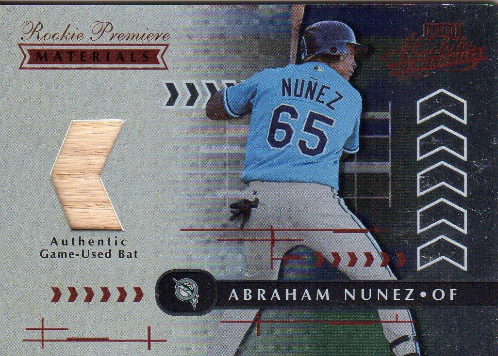 2001 Absolute Memorabilia #180 Abraham Nunez RPM