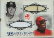 2001 SP Authentic UD Exclusives Game Jersey Combos #MG Mickey Mantle/Ken Griffey Jr. SP/98