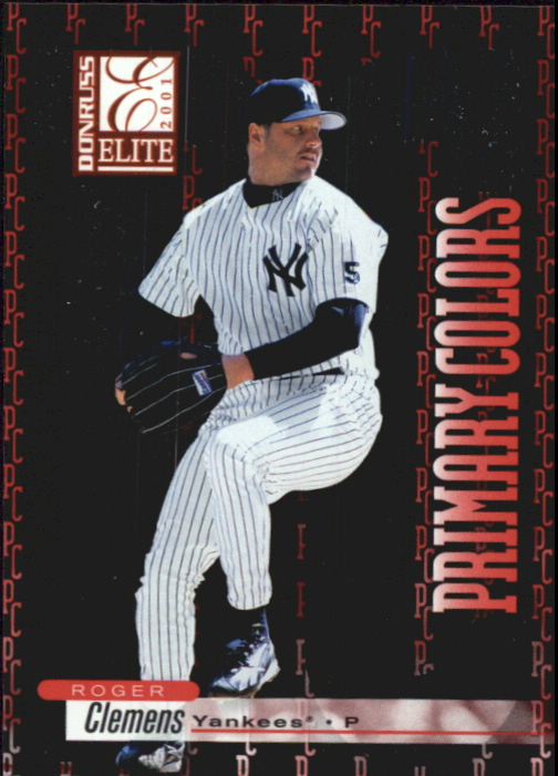 2001 Donruss Elite Primary Colors Red #PC20 Roger Clemens