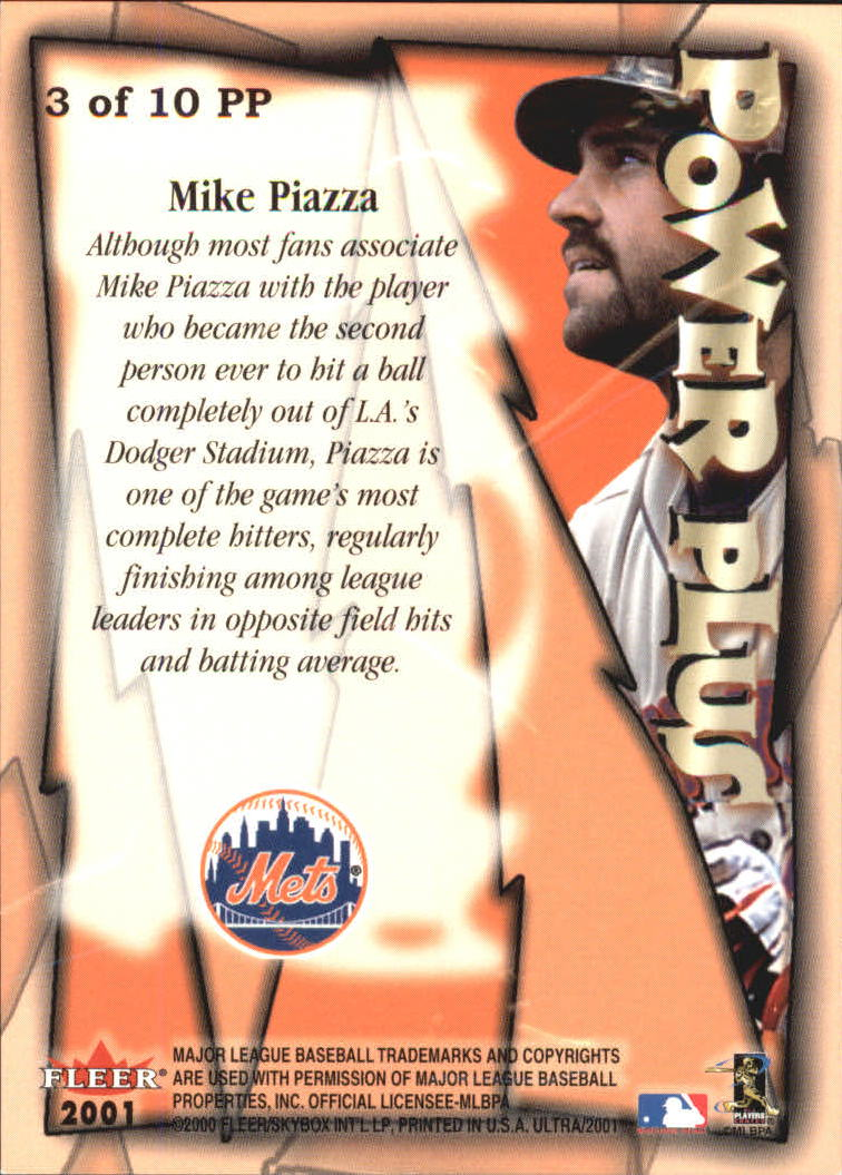 2001 Ultra Power Plus #3 Mike Piazza back image