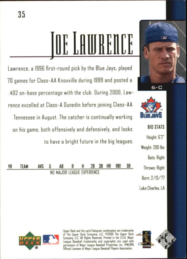 2001 Upper Deck #35 Joe Lawrence SR back image