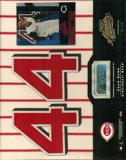 2002 Absolute Memorabilia Signing Bonus #79 Adam Dunn Stripe-N/44