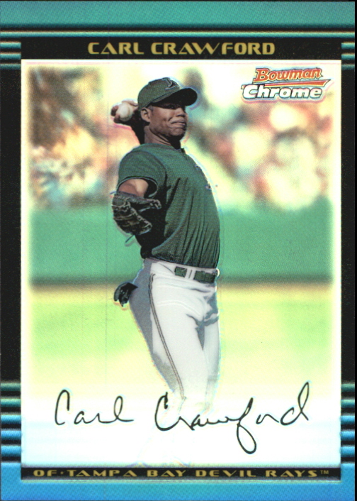 2002 Bowman Chrome Refractors #237 Carl Crawford
