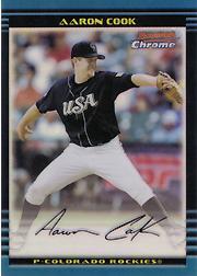 2002 Bowman Chrome Draft Refractors #122 Aaron Cook