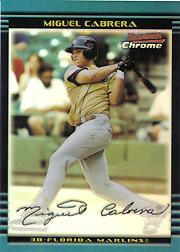 2002 Bowman Chrome Draft Refractors #156 Miguel Cabrera