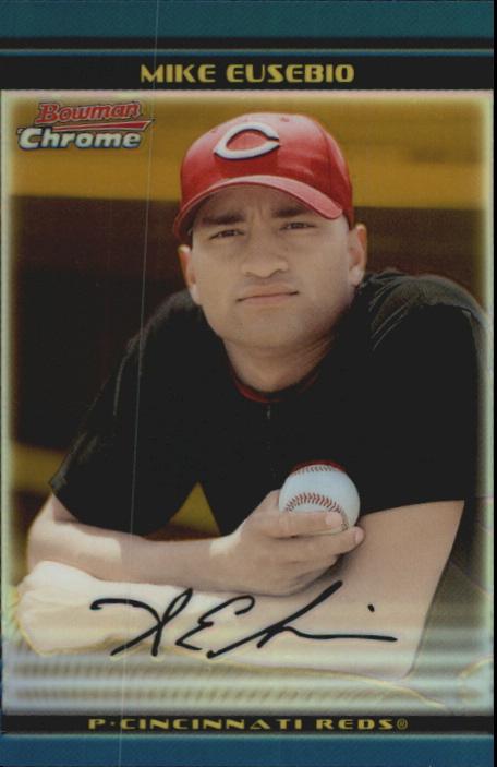 2002 Bowman Chrome Draft Gold Refractors #5 Mike Eusebio