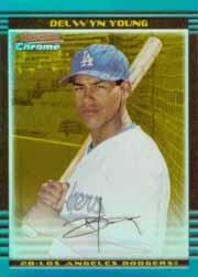 2002 Bowman Chrome Draft Gold Refractors #10 Delwyn Young