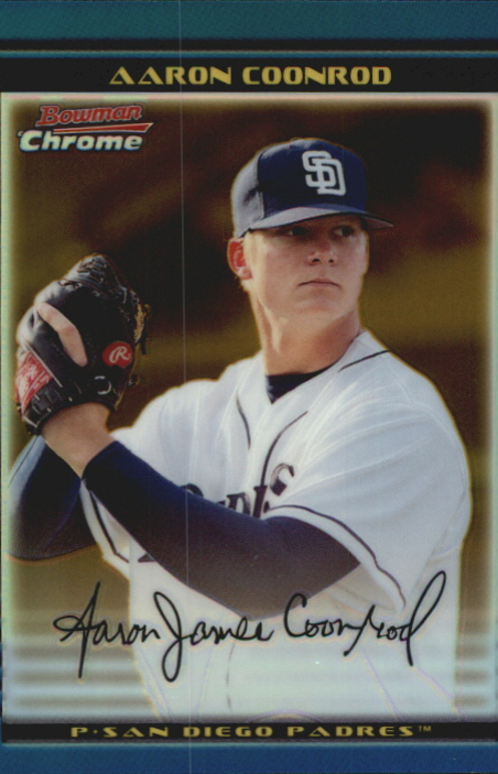 2002 Bowman Chrome Draft Gold Refractors #82 Aaron Coonrod