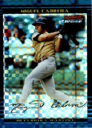 2002 Bowman Chrome Draft X-Fractors #156 Miguel Cabrera