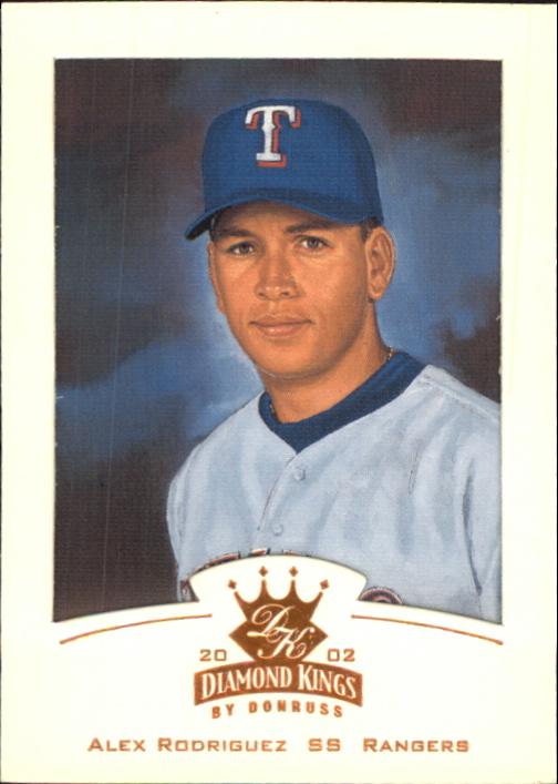 2002 Diamond Kings #8 Alex Rodriguez