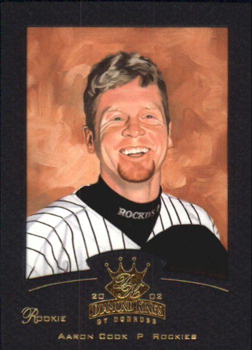 2002 Diamond Kings Gold Foil #160 Aaron Cook