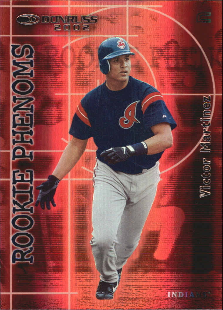 2002 Donruss Rookies Phenoms #4 Victor Martinez