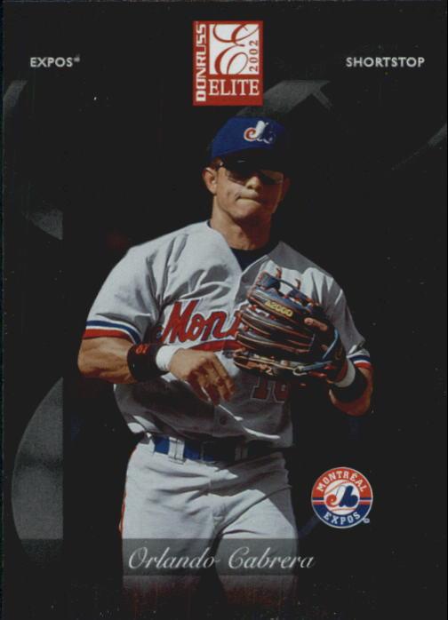 2002 Donruss Elite #57 Orlando Cabrera