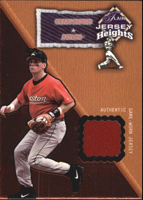2002 Flair Jersey Heights #3 Craig Biggio