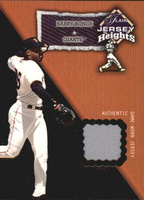 2002 Flair Jersey Heights #4 Barry Bonds SP