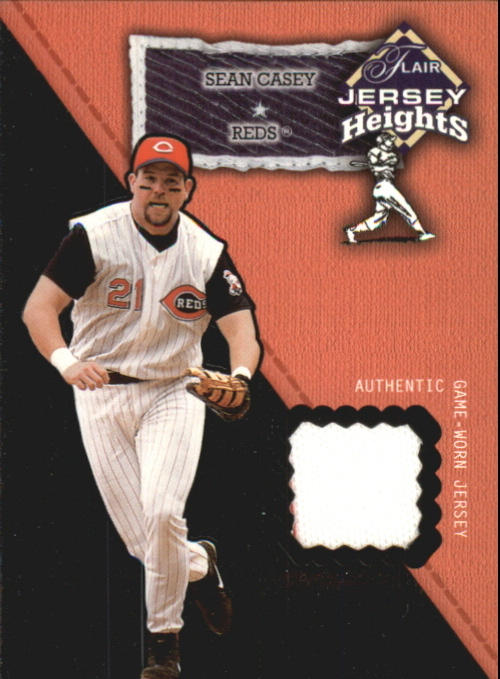 2002 Flair Jersey Heights #5 Sean Casey